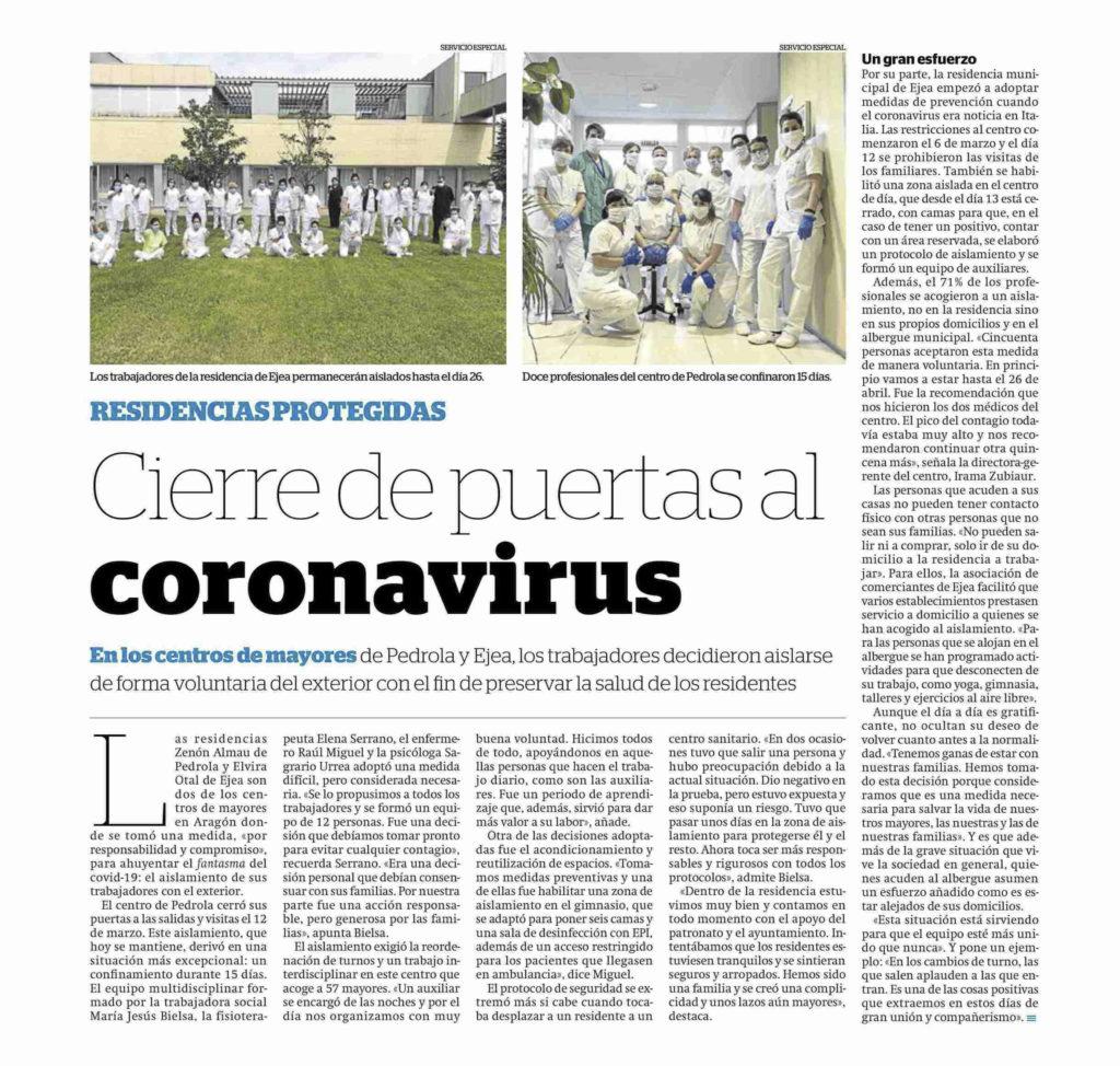 PA20042330 1024x974 - Cierre de Puertas al Coronavirus en la Residencia Elvira Otal
